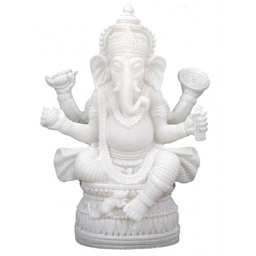 Ganesh statuette blanc
