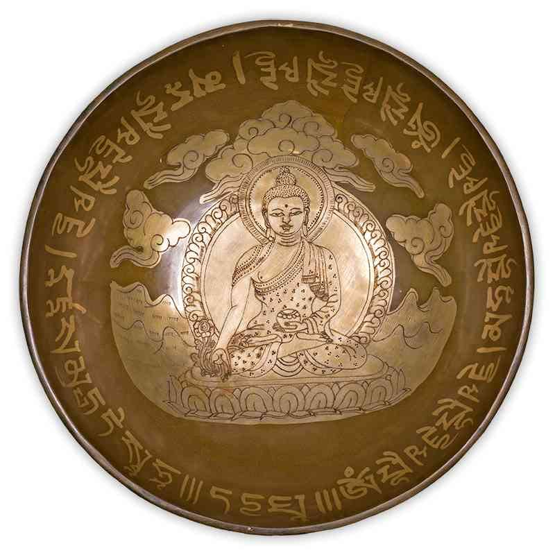 Bol Tibétain Bouddha Médecine 27 cm