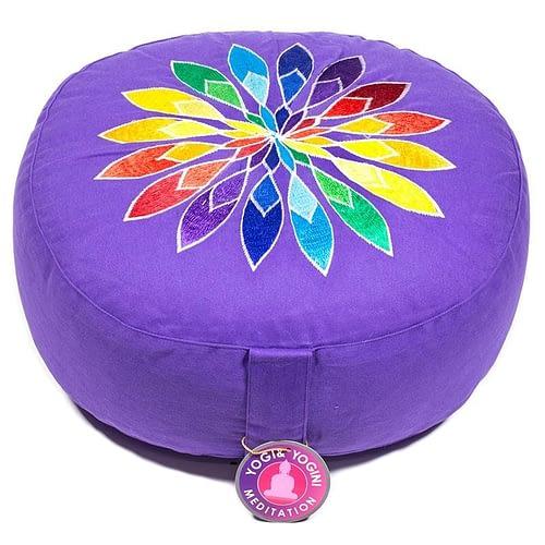Meditationskissen violett Multicolor-Blume