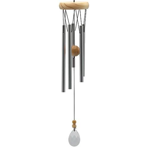 Carillon à vent à cinq tubes capteur vent cristal