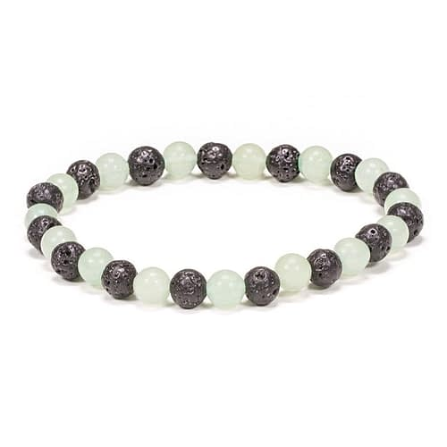 Bracelet en pierre de lave/Aventurine