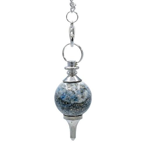 Pendule Lapis lazuli poli et métal