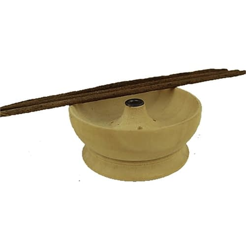 Brûle bâton d'encens coupelle en bois clair