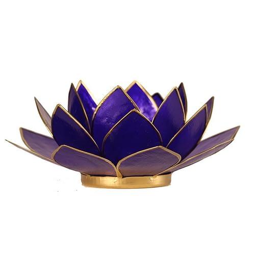 Eclairage Lotus 6° Chakra indigo et or