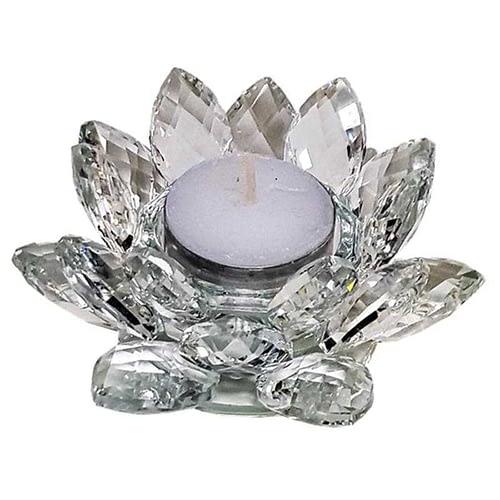 Bougeoir Lotus cristal M