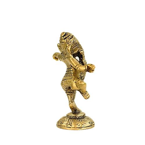 Ganesh dancing brass
