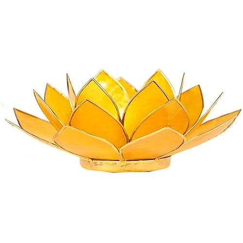 Eclairage Lotus 3° Chakra jaune et or