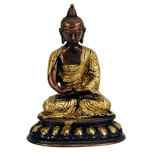 Buddha Amithaba statue two-coloured