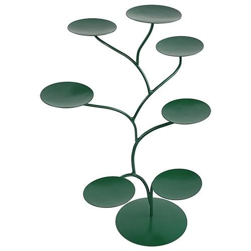 Display für 7 Chakra Lotus-Kerzenhalter grün
