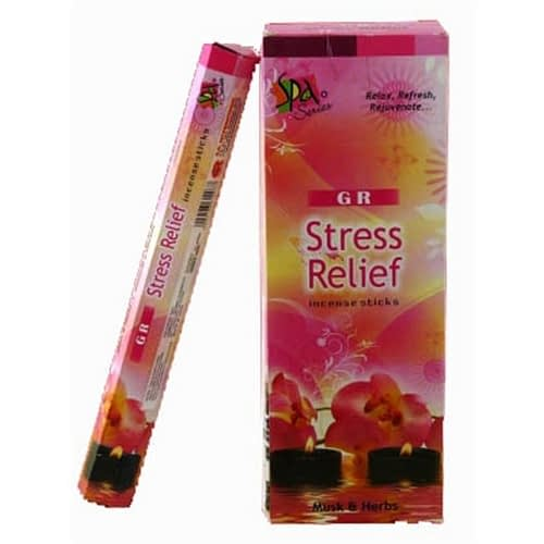 Incense Stress Relief hexagon package