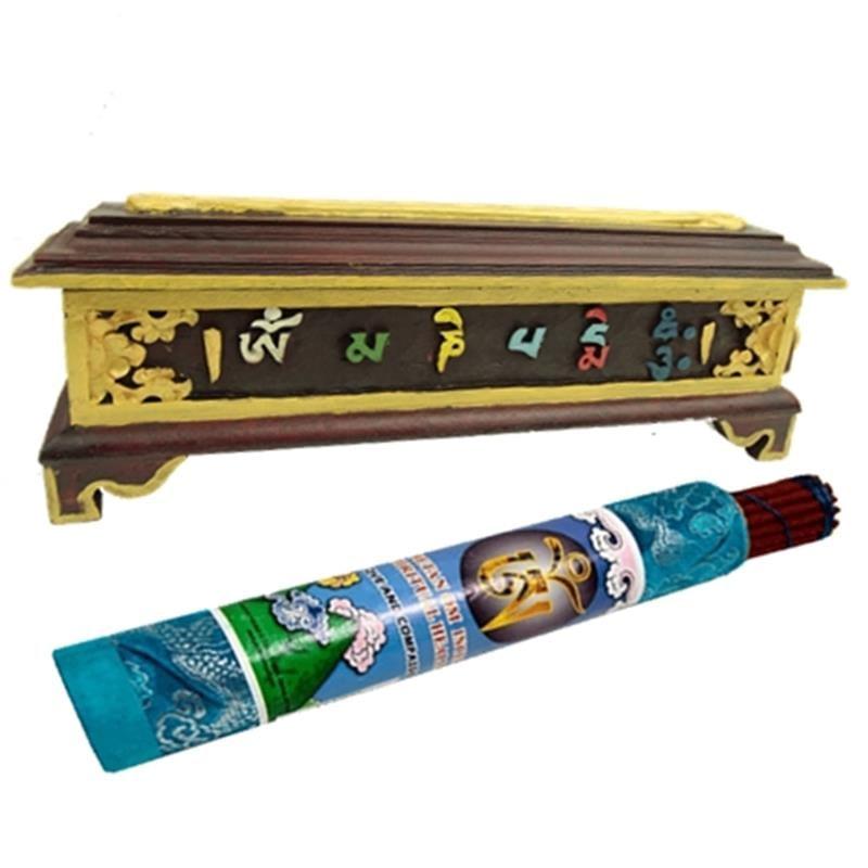 Wierookbrander Tibetaans hout OMPMH