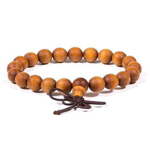 Mala / bracelet bois de santal élastique