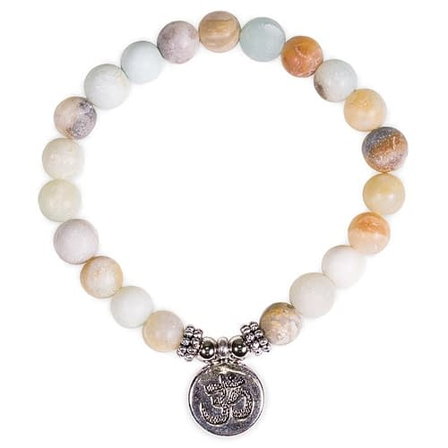 Mala/bracelet amazon stone elastic with ohm