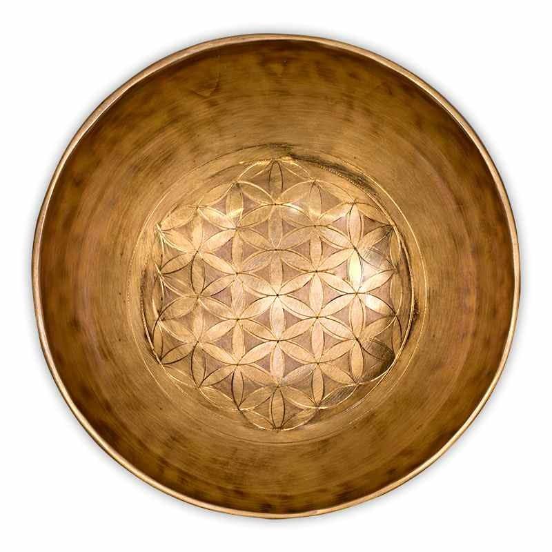 Bol Chantant Tibet Fleur de Vie guérison 20 cm