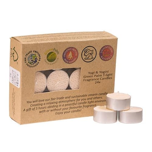 Fair Trade T-lights stearin jasmin scented