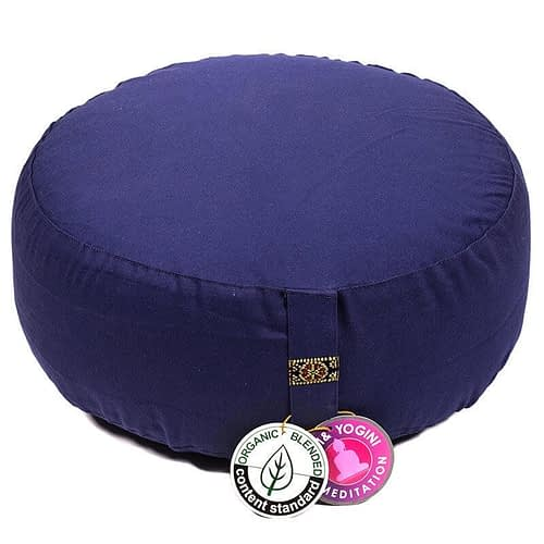 Meditation cushion indigo organic cotton