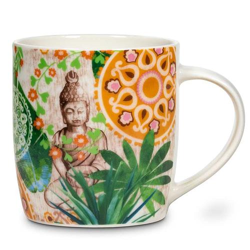 Gift box Tea Infuser Mug Buddha paradise 2 pieces