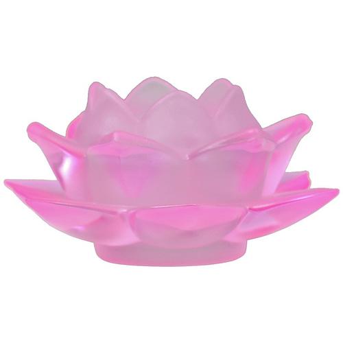 Atmospheric lighting Lotus glass pink