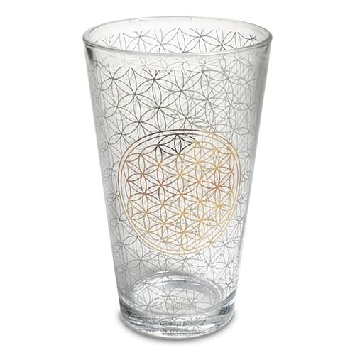 Drinking glass Flower of life 2 pieces