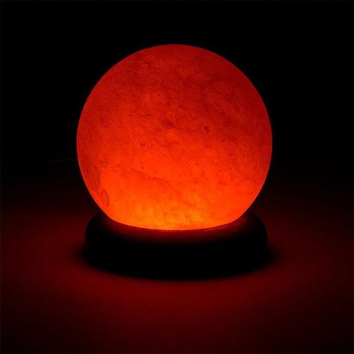 Mini Salt Lamp Sphere orange USB + LED