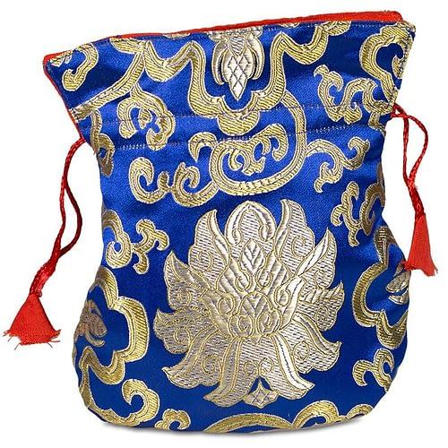 Bag brocade lotus blue