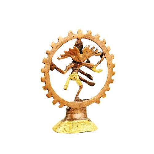 Shiva Nataraj brass monochrome
