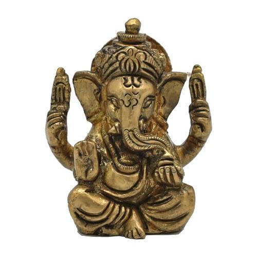 Ganesh brass miniature