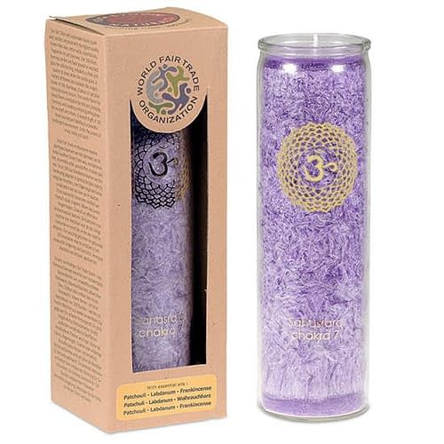 Aromatic Candle stearin 7th Chakra 100 hours