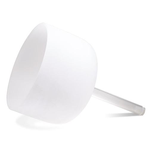 Crystal Handheld Singing Bowl White B-tone - 25 cm