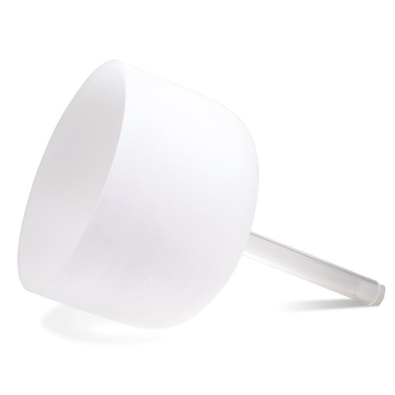 Kristallen klankschaal wit/handgreep/B-toon - 25 cm