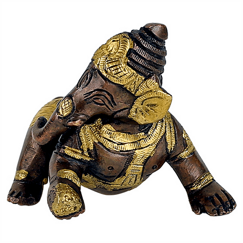 Baby Ganesha Brass two-colour