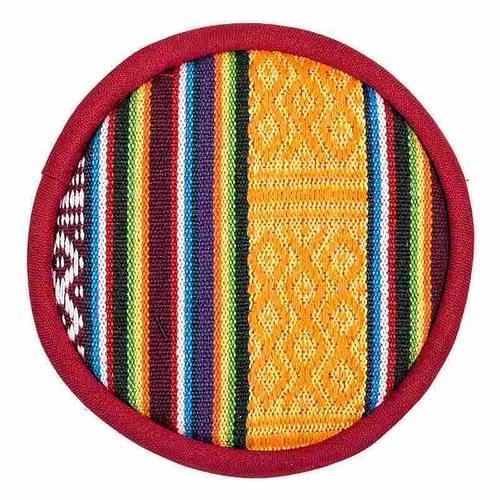 Singing bowl cushion tribal design