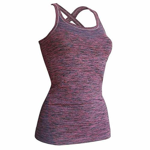 Kidneykaren yoga singlet S pink/petrol